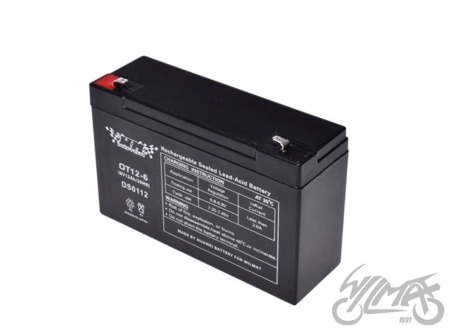Akumulator żelowy 4AH WM MOTOR 6V 12ah