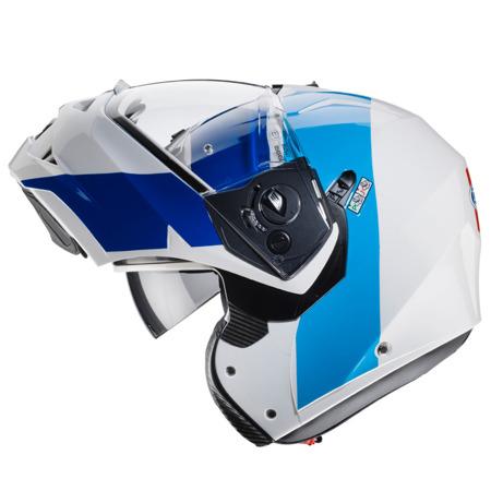 Kask CABERG DUKE II IMPACT biały/niebieski/czerwony