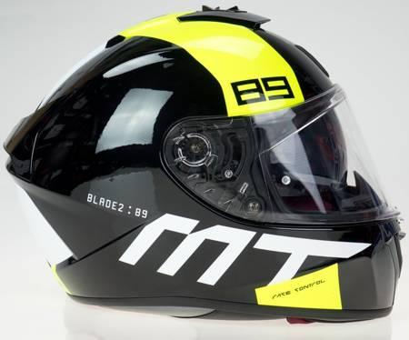 Kask MT BLADE 2 SV 89 B3 czarny szary żółty