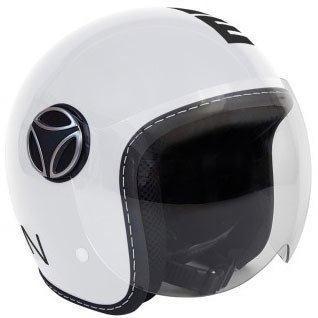 Kask Motocyklowy MOMO BABY Biały Połysk / Czarny