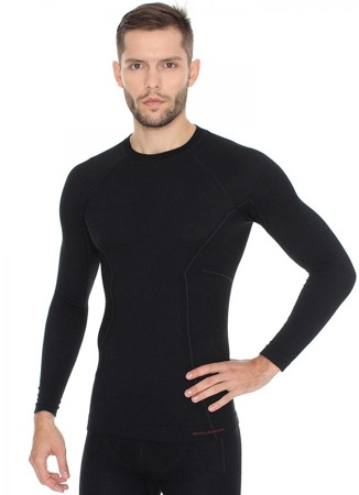Koszulka męska z długim rękawem BRUBECK ACTIVE WOOL