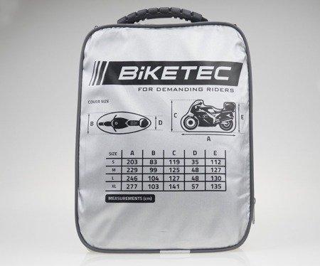 Pokrowiec wodoodporny na motocykl z kufrem BIKETEC AQUATEC M