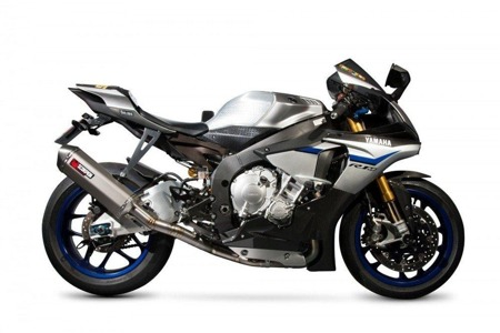 Yamaha R1/R1M 15/17 Serket Superstock Style De-cat Tytanowy + Dekat Link Pipe SSTCK1000