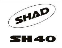 Naklejki do kufra SHAD SH40 białe